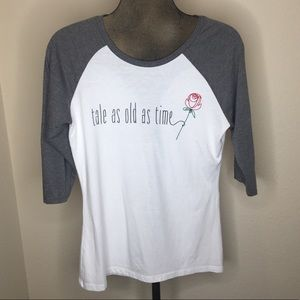 """Disney Parks """"Tale As Old As Time"""" baseball tee"""